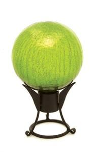 """Achla 12"""" Gazing Globe Fern Green Crackle"""