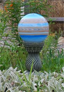 Echo Valley Serpentine Gazing Globe Pedestal