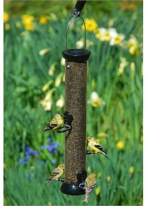 """Droll Yankees Onyx Clever Clean 18"""" Nyjer Feeder with Microban"""