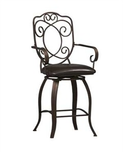 Linon Crested Back Counter Stool 02786MTL-01-KD-U