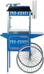 Paragon 1911 Brand Concession Sno Cone Machine + Cart