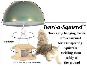 BirdQuest Twirl A Squirrel Bird Feeder Baffle