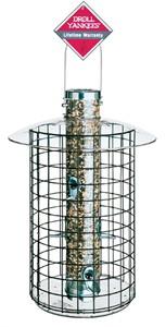 "Droll Yankees 20"" 6 Port Sun Flower Tube Domed Cage Feeder"