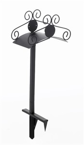 Two Prong Ornamental Hose Stand