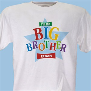 Personalized I'm the Big Brother Little Brother T-shirt