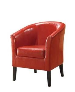 Linon Simon Red Club Chair 36077RED-01-AS-U