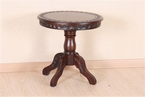 Hand Carved Round Table