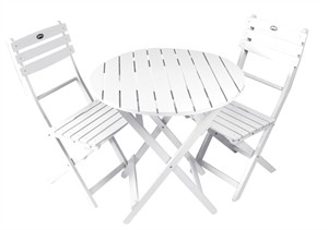 White Bistro Table and Chair Set