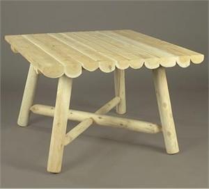 Square Cedar Dining Table
