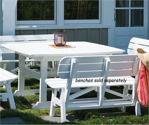 "Seaside Casual Portsmouth 56"" Square Outdoor Dining Table"