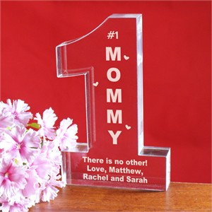 Number One Mom Personalized Keepsake