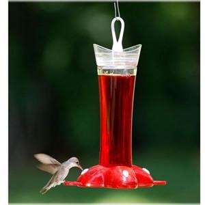 Rose Petal Glass Hummingbird Feeder