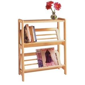 Winsome 82430 Bookshelf with slanted shelf