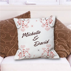 Throw Pillow Personalized with Couples Name