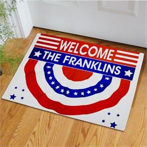 Personalized Patriotic Doormat