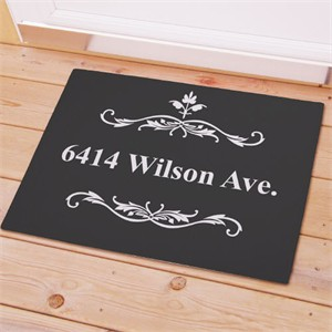 Doormat Personalized with Street Address