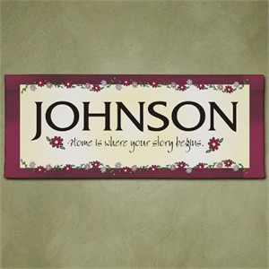 Home Is Where Your Story Begins Personalized Wall Sign