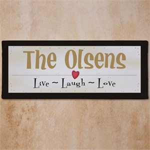 Personalized Live Laugh Love Wall Sign