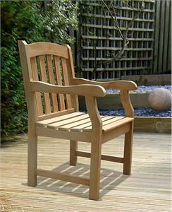 Acacia Wood Outdoor Armchair