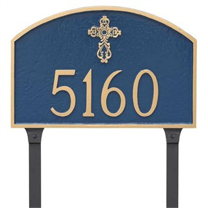Personalized Religious Address Plaque with Cross