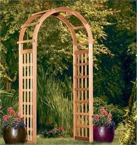 Cedar Garden Arch Arbor