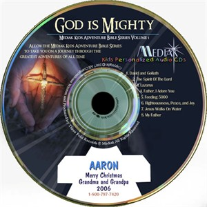 God Is Mighty Personalized Audio CD for Kids