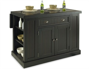 Homestyles 5033-94 Nantucket Kitchen Island : Black