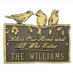 Personalized Bless Our Home Plaque