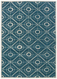 Bombay Contort Teal Area Rug