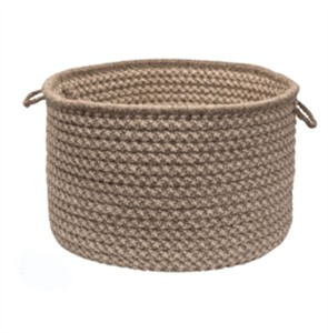 CMI Natural Wool Houndstooth Braided Storage Basket