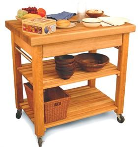 Catskill Craftsmen 1476 Butcher Block Kitchen Work Table
