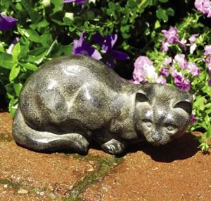 Aluminum Cat Garden Statue