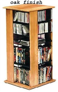 Swivel Storage Tower for DVDs