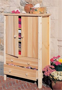 Cedar Wood Armoire Cabinet