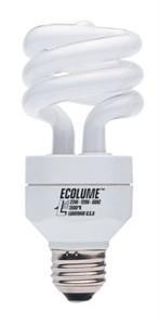 Ecolume CFL Compact Fluorescent 20W Full Spectrum Spiral Light Bulb