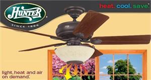 Hunter 21894 Westover Four Seasons Heater Fan