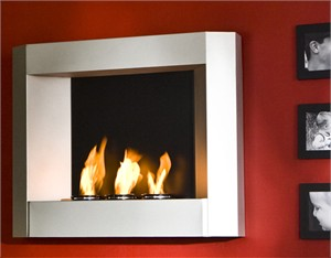 Wall Mount Contemporary Fireplace