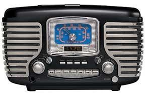 Crosley CR612 Corsair Retro Clock Radio with CD Player
