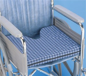 Coccyx Cushion with Plaid Cover