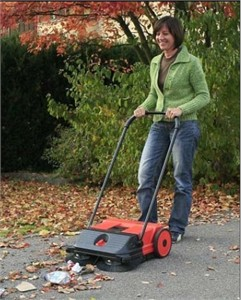 Commercial Oreck PPS21 Dual Brush Push Power Sweeper