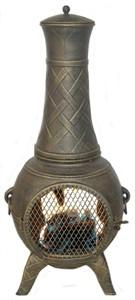Deeco DM-6035J-AA Western Basket Weave Jr. Chiminea