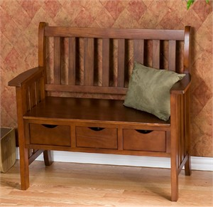 Country Bench With Drawers