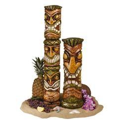 Moai Haku Hana Tiki Sculpture