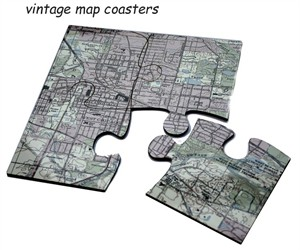 Custom Jigsaw Map Coasters