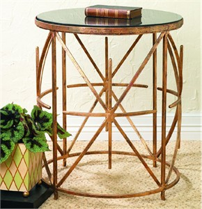 Granite Top Iron Side Table