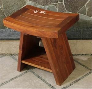 Deco-Teak Asia Teak Serenity Bench with Shelf