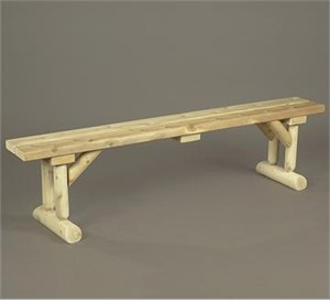 Rustic Natural Cedar 20D Dining Table Bench