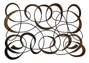 Dr. Livingstone DLWG169DGLD Swirl Design Wall Art