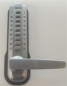 Lockey 7055 Narrow Style Lever Keyless Entry Lock