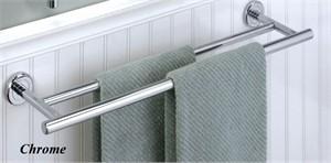 Gatco Latitude II Double Wall Mount Towel Bar